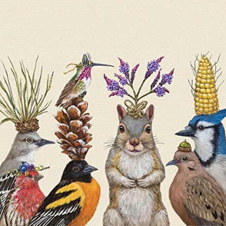 Paperproducts Design Beverage Napkins Forest Animals