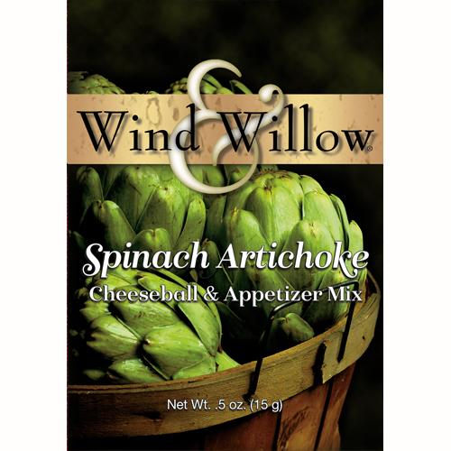 Wind & Willow Spinach Artichoke Cheeseball and Appetizer Mix