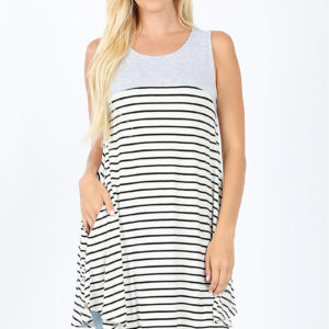 Sleeveless Tunic with Side Pockets – Various Patterns Available