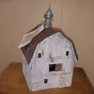 White Hip Roof Barn w/c #1 Bird House