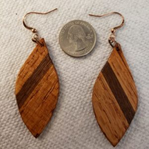 Tear Drop Wooden Earrings #2