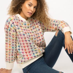 Mixed color sweater