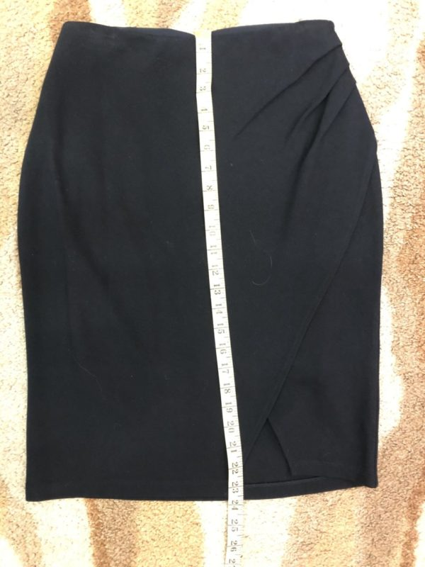 Ruby Ribbon Black Skirt – Size Medium