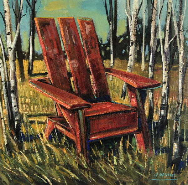Adirondack Chair Oil Painting on Canvas by James Navarro