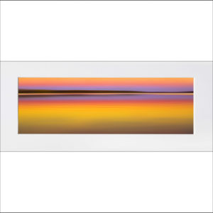 Abstract Sunset matted print