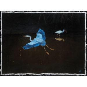 Blue Heron 18×24 custom canvas wrap