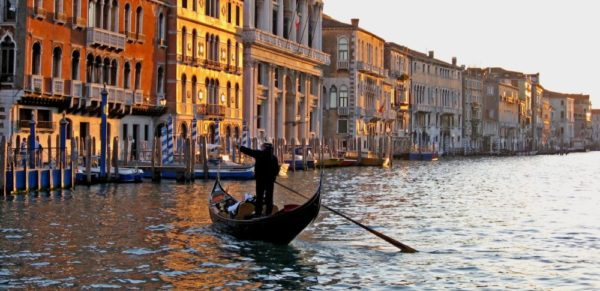Gondolier on the Grand Canal of Venice-Ltd. Edition [2/20] – Framed matted print