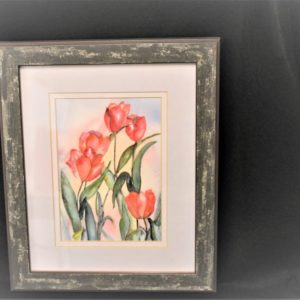 Framed Tulip Watercolor Print