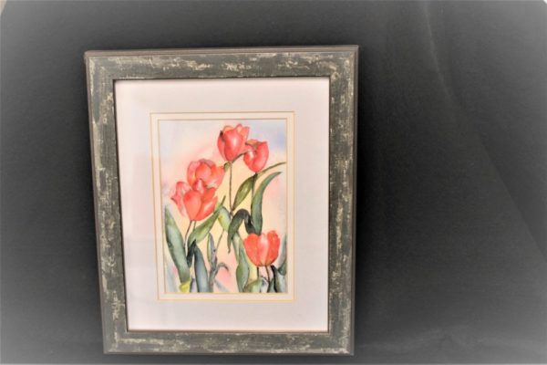 Framed Tulip Watercolor Print