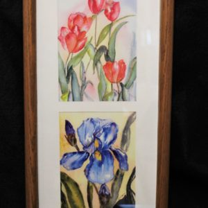 """Iris"" Framed Watercolor Prints by Colleen Shaw"