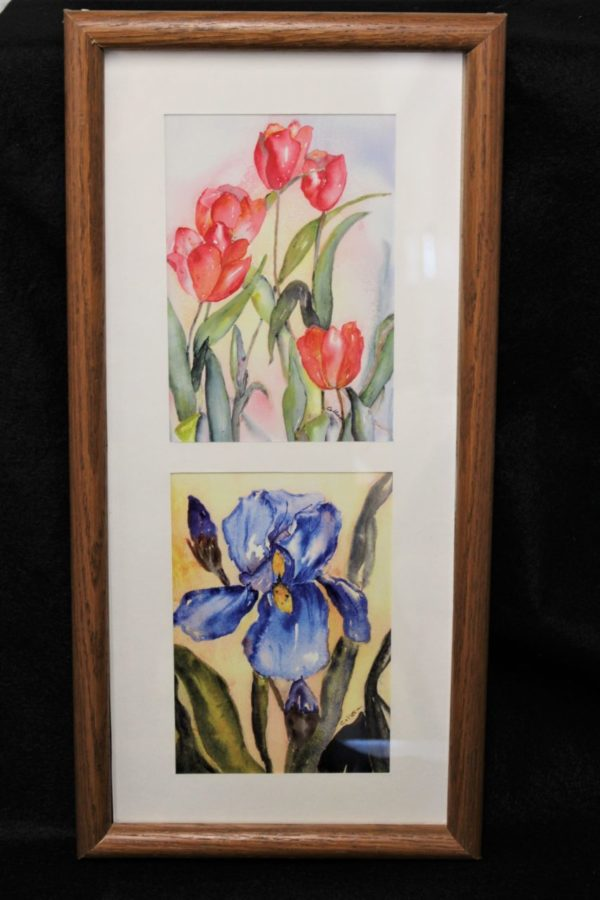 """""""Iris"""" Framed Watercolor Prints by Colleen Shaw"""