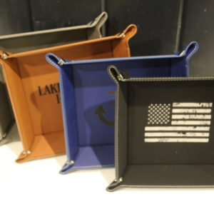 Laserable Leatherette Trays
