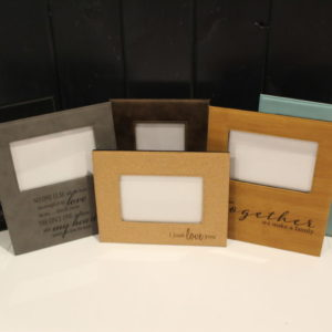 4×6 Leather Laserable Photo Frame