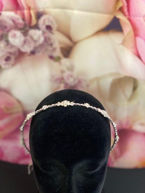 Girls Silver Headband 4971