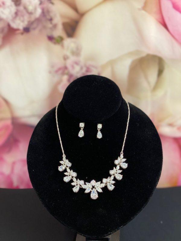 Silver Necklace & Earring set NE9667