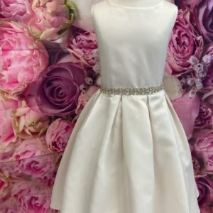 Photo of Satin Champagne Flower girl dress on shopiowa.com