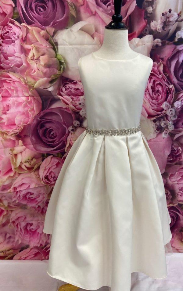 Satin Champagne Flower Girl Dress 5745