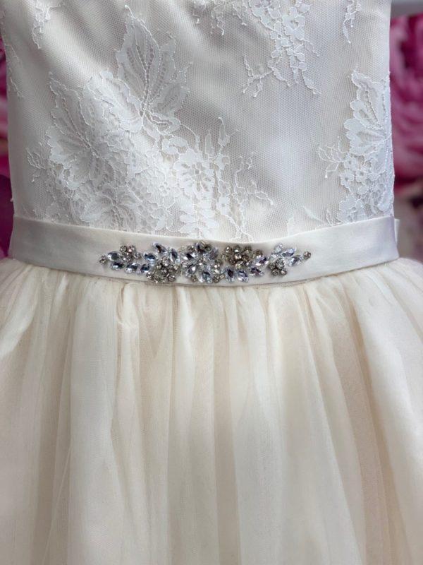Champagne Flower Girl Dress with Tulle skirt 5712