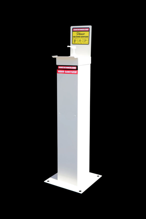 The Station – free standing, durable hand sanitizer units