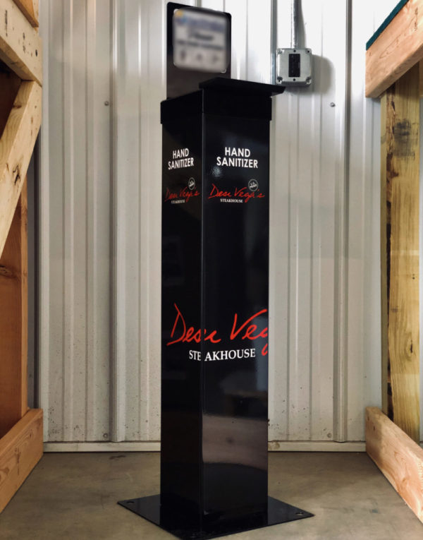 The Station – Custom free standing, durable hand sanitizer units