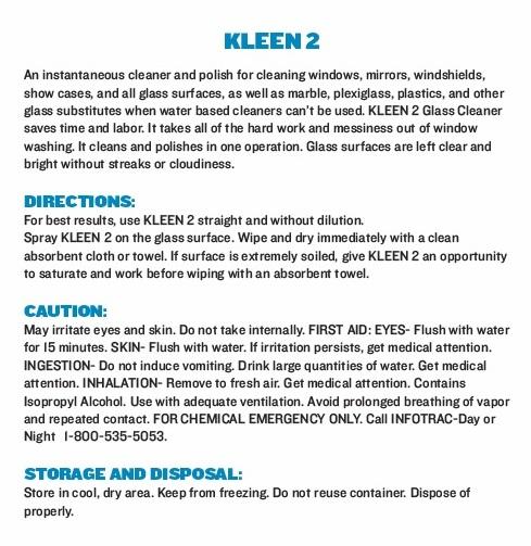 Kleen 2 Glass Cleaner
