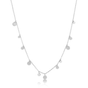 Ania Haie Silver Geometry Mixed Discs Necklace