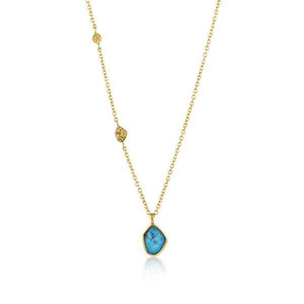 Ania Haie Turquoise Pendant Gold Necklace
