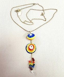 photo of Pridewear Art Bead Flapjack Necklace on shopiowa.com