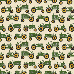 Green Tractor Fabric