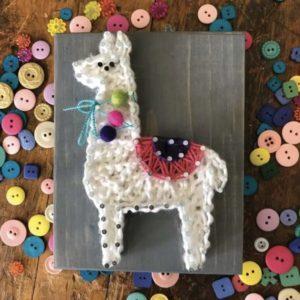 llama DIY string art