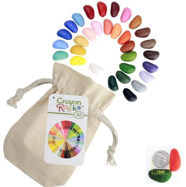 Crayon Rocks – 32 Colors in a Muslin Bag