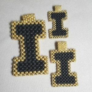 UI School Spirit Beaded Pendant