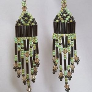 Brick Stitch Earrings with Fringe Beading Kit