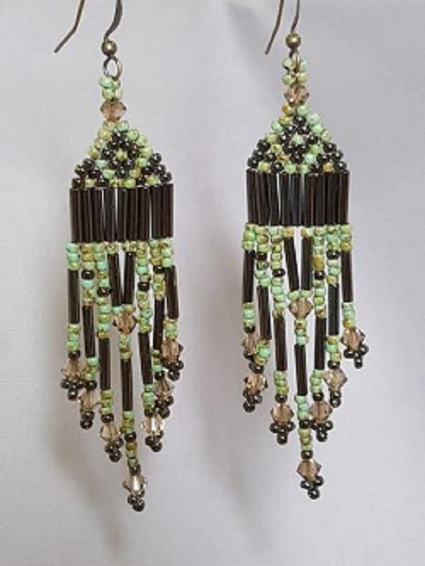 Brick Stitch Earrings with Fringe Beading Kit on shopiowa.com