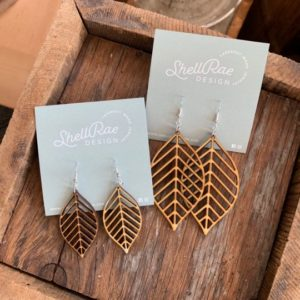 Custom Laser Cut Wood Earrings