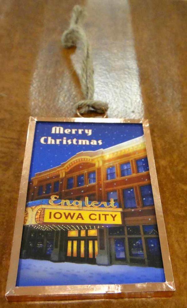 Iowa City's Englert Theatre Christmas Ornament by Norman Stiff