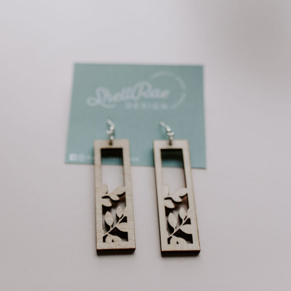 Custom Laser Cut Wood Earrings