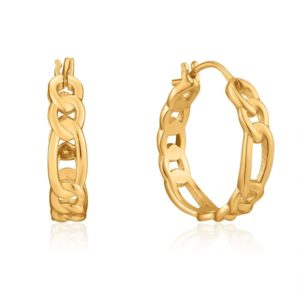 Ania Haie Gold Figaro Chain Hoop Earrings