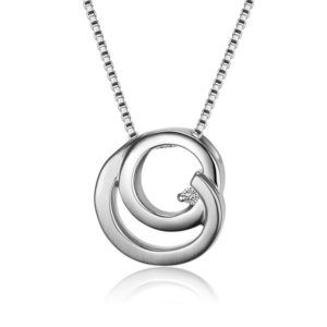Bentelli Diamond Matte and Polished Pendant