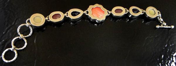 backside of gemstone bracelet