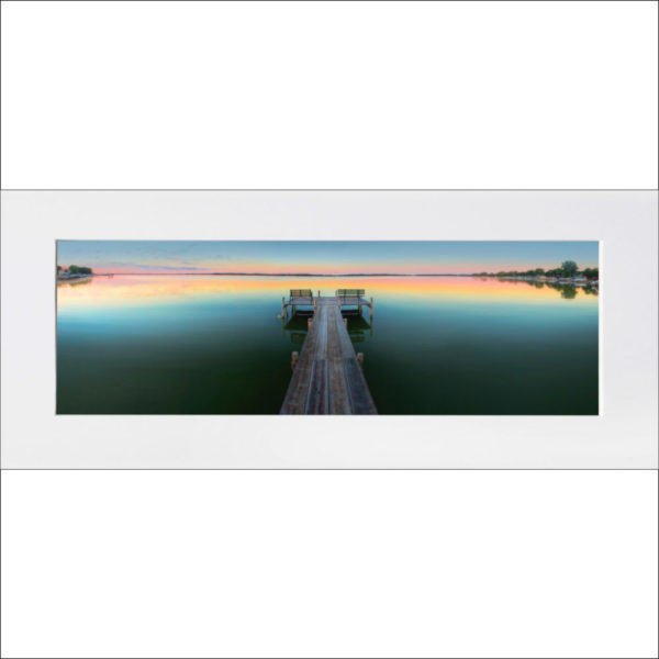 """Clear Lake matted print – """"The Dock"""""""