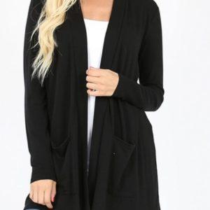 Plus Size Black Cardigan on shopiowa.com