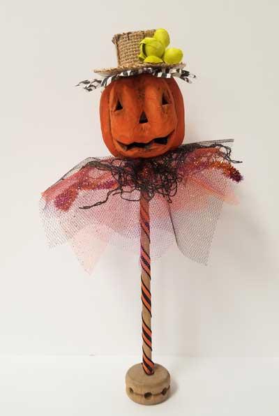 Pumpkin Head Art Kit to Go (Straw Hat)
