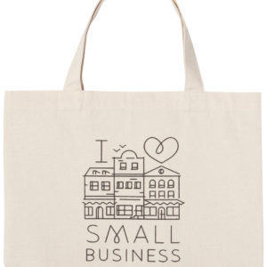 Tote Bag-I Love Small Business