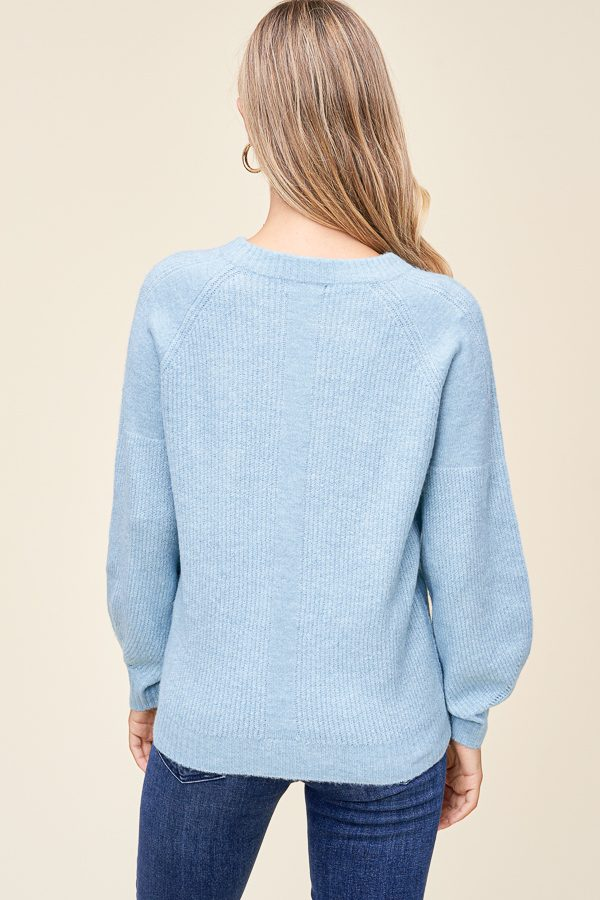 Light Blue Crewneck Pullover