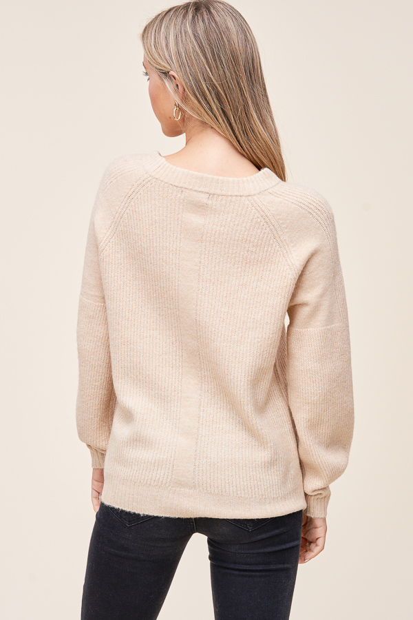 Cream Crewneck Pullover sweater