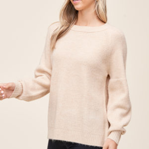 Cream Crewneck Pullover sweater