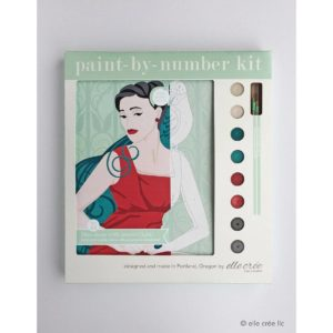Paint by Number Kit-Dame with Parrot