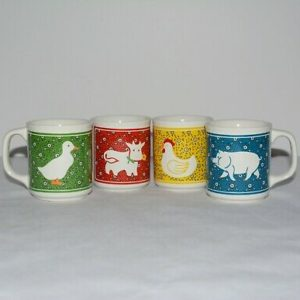Retro Farm Animal Coffee Mugs on ShopIowa.com
