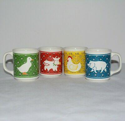Retro Farm Animal Coffee Mugs on ShopIowa.com